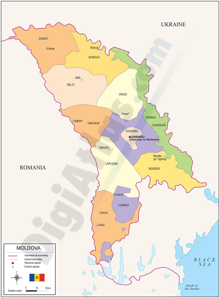 Mapa de Moldova
