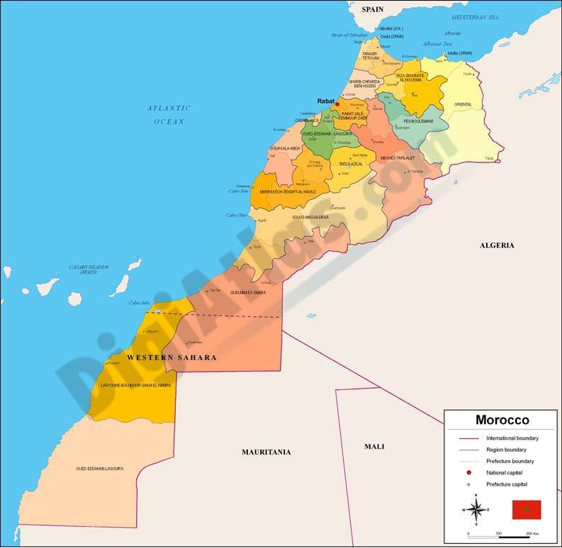 Mapa de Marruecos