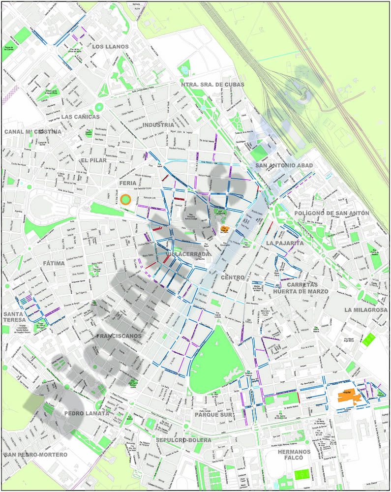 Albacete - Blue zona and residential