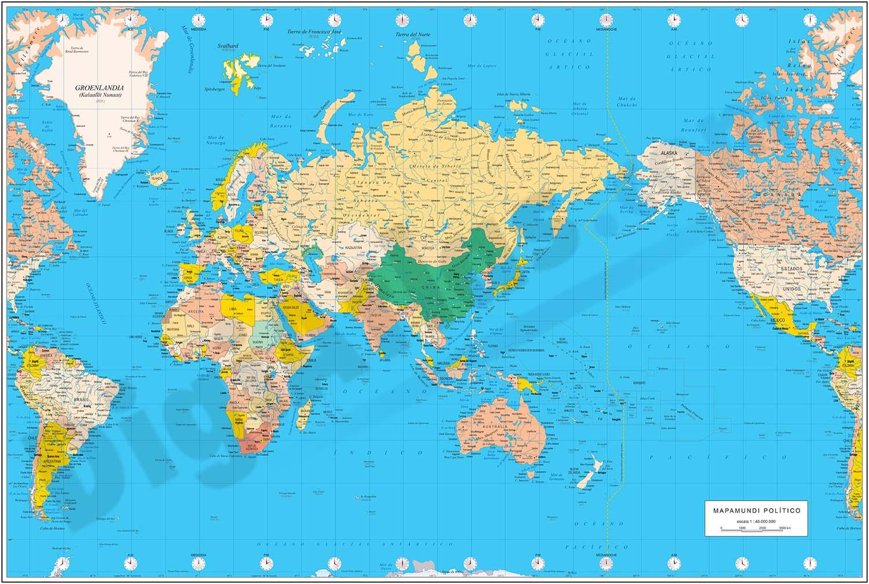 China centered political worldmap
