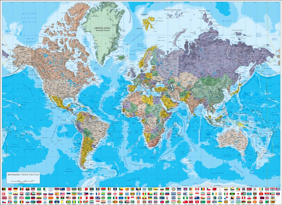 High Resolution Political World Map on High Resolution World Map
