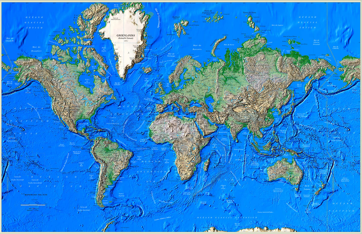 Great Worldmap Poster Relief