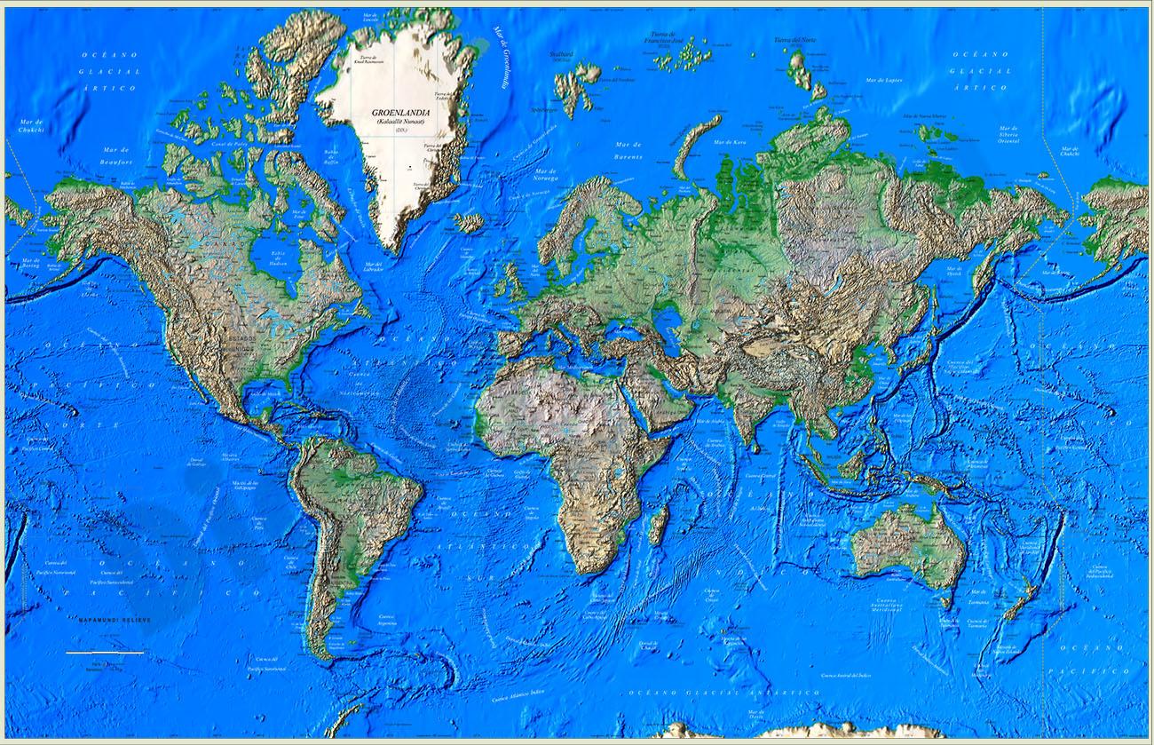 Great Worldmap Poster Relief