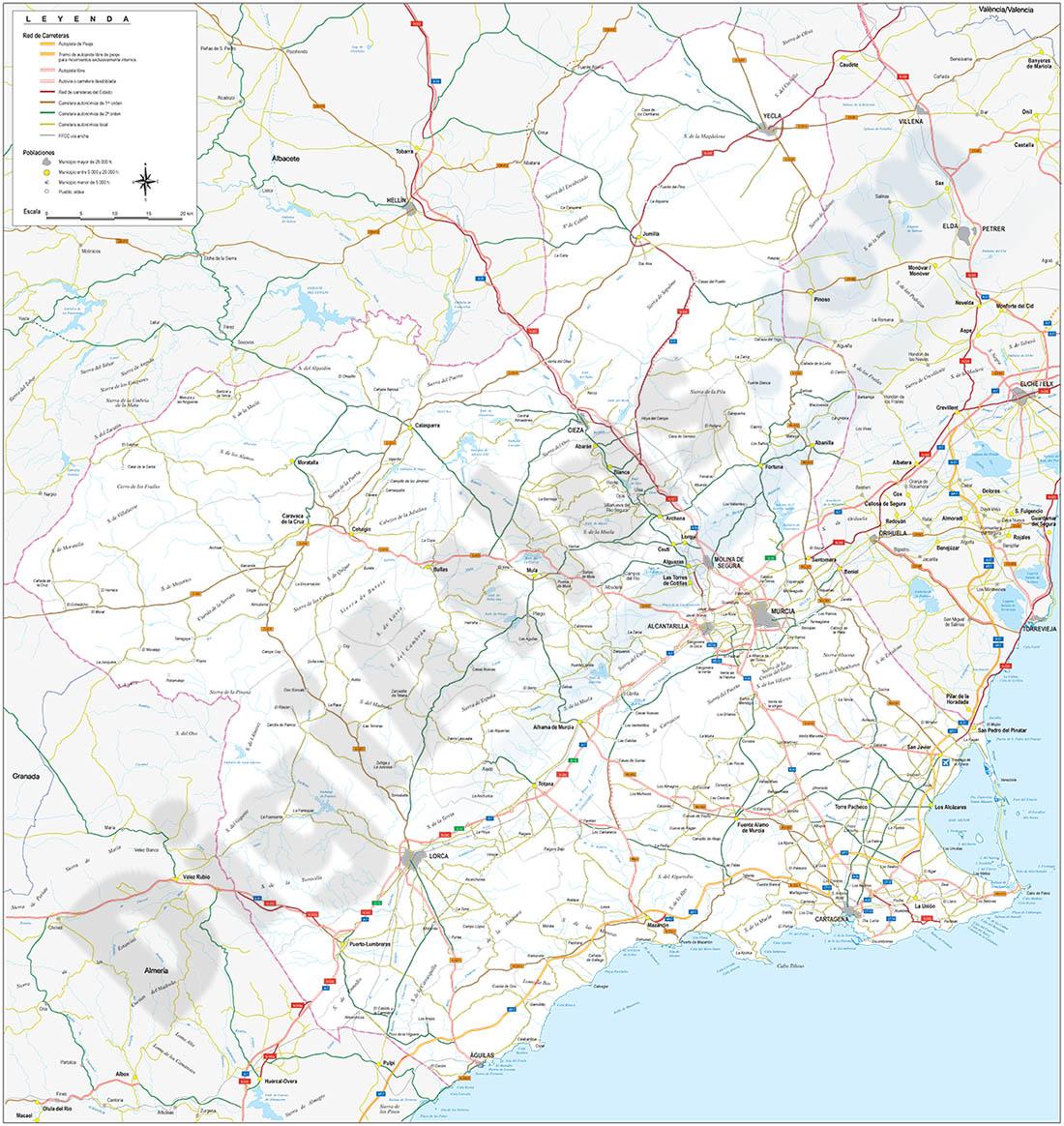 Map of Región de Murcia