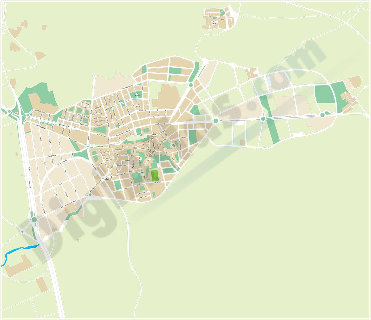 Muro de Alcoy-Alcoi (Alicante) - plano callejero