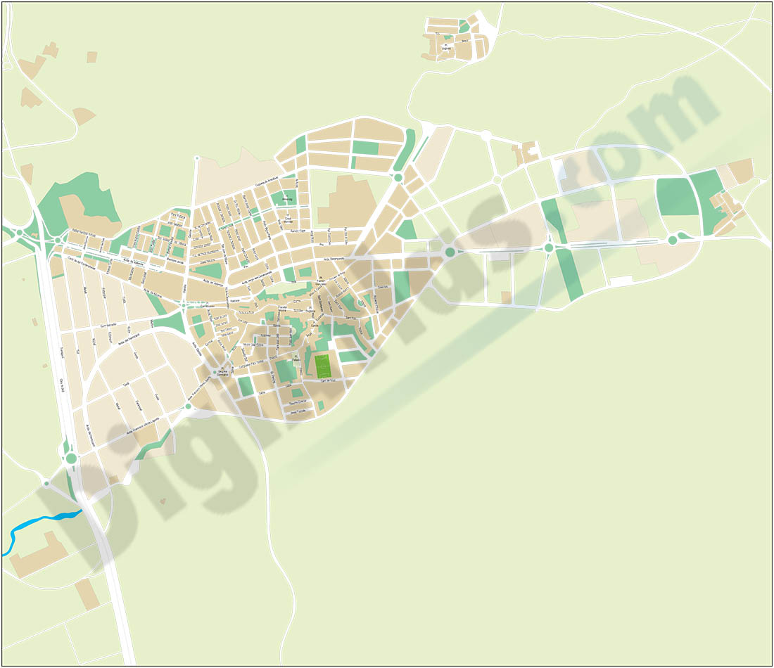 Muro de Alcoy-Alcoi (Alicante) - city map