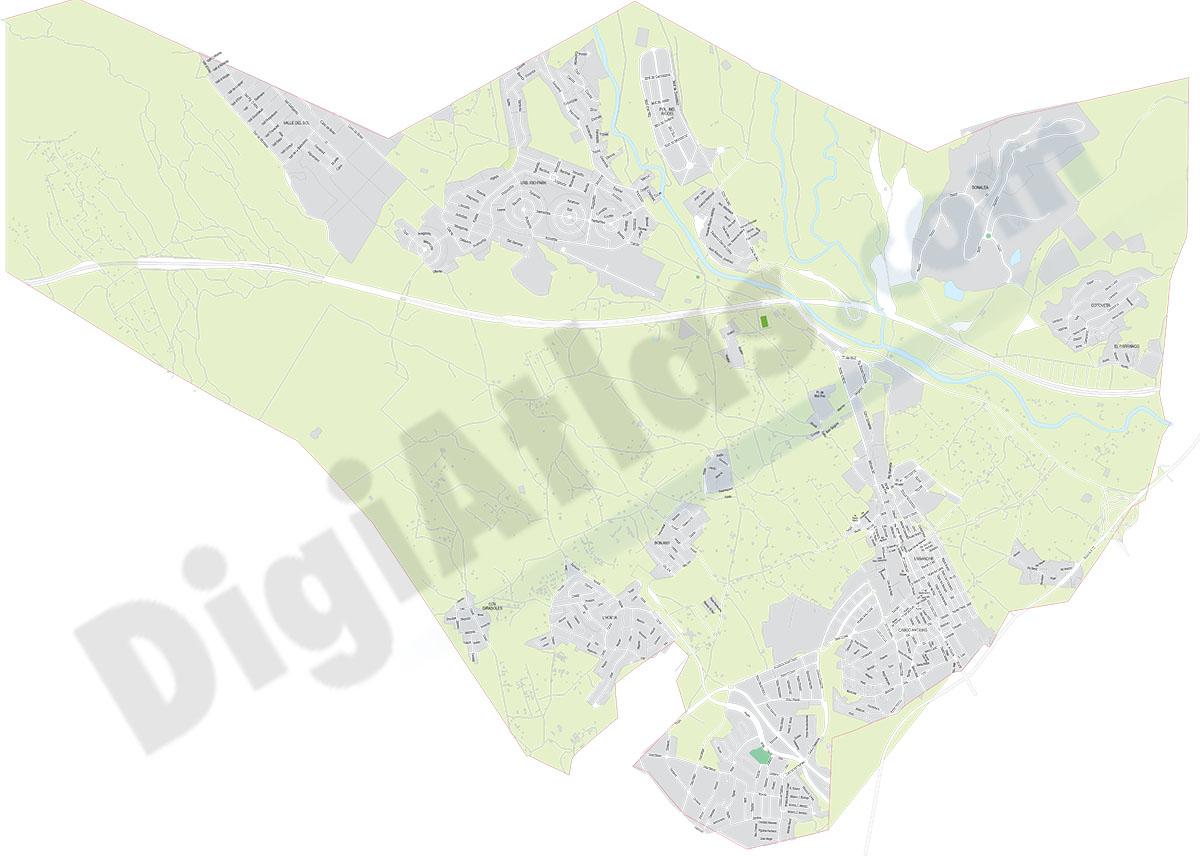 Mutxamel (Alicante) - plano callejero