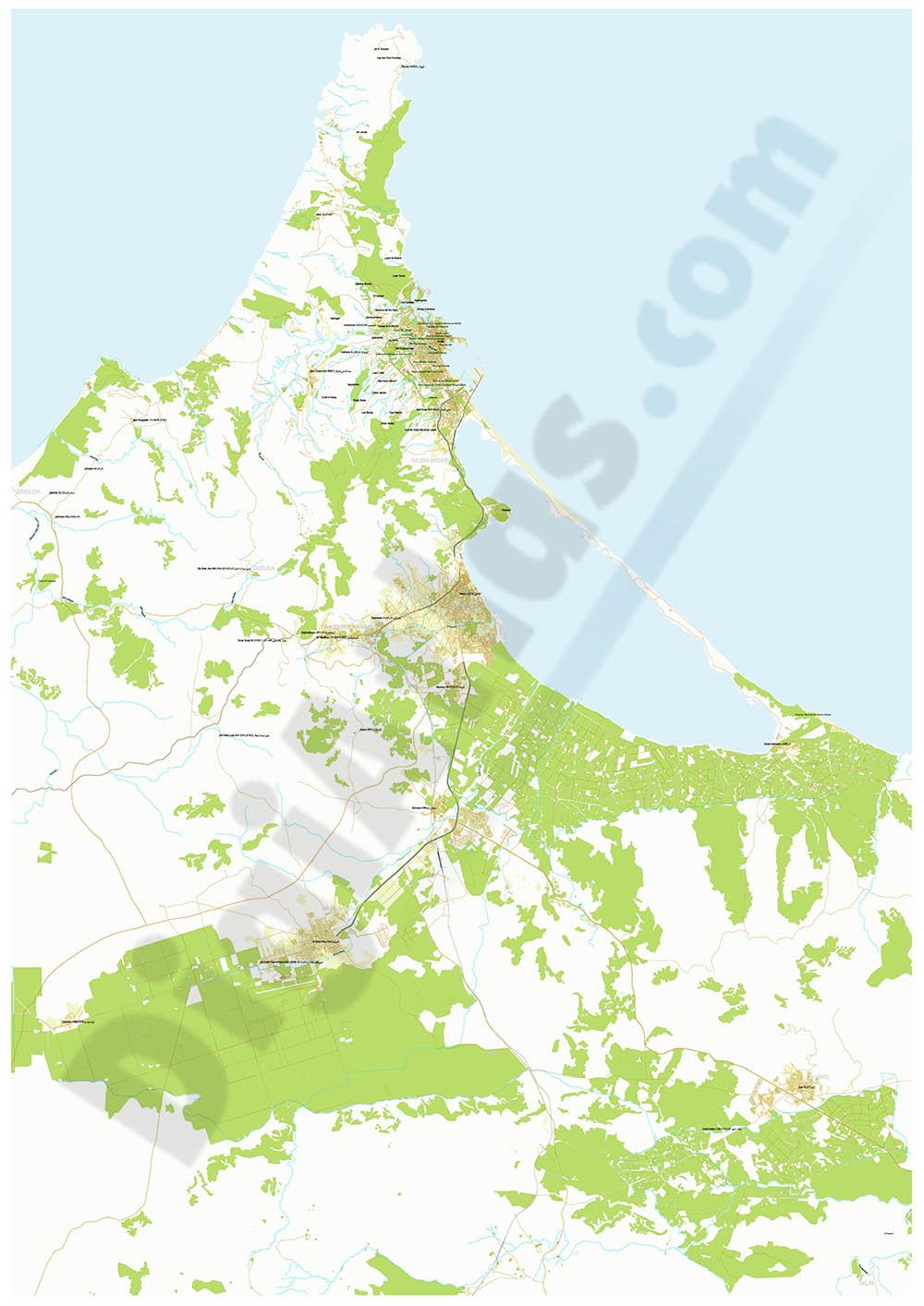 Map of Nador