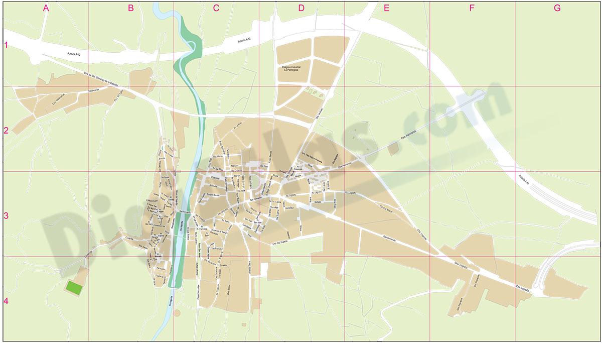 Nájera (La Rioja) - plano callejero