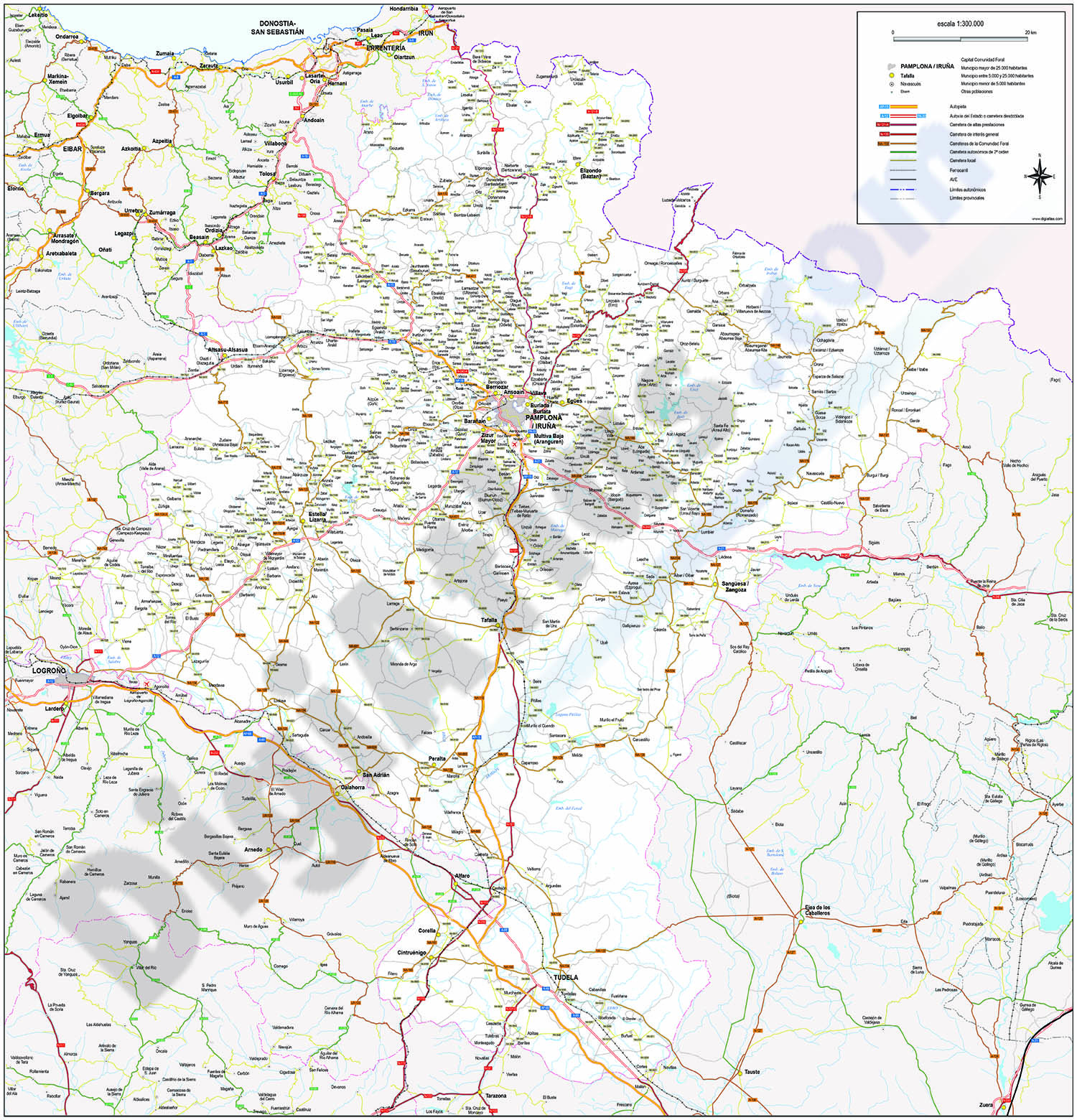 Navarra - Mapa de la Comunidad Foral