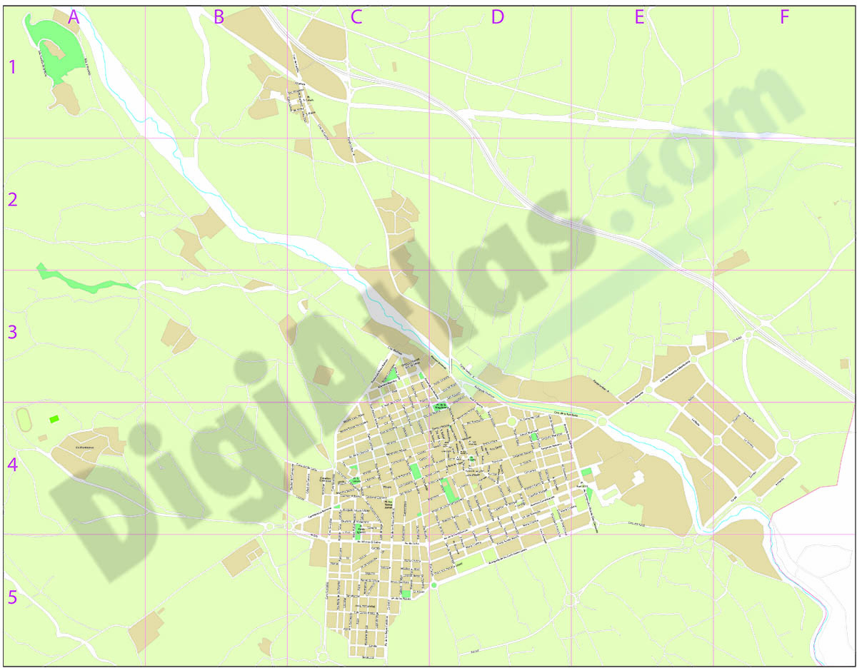 Novelda (Alicante) - plano callejero