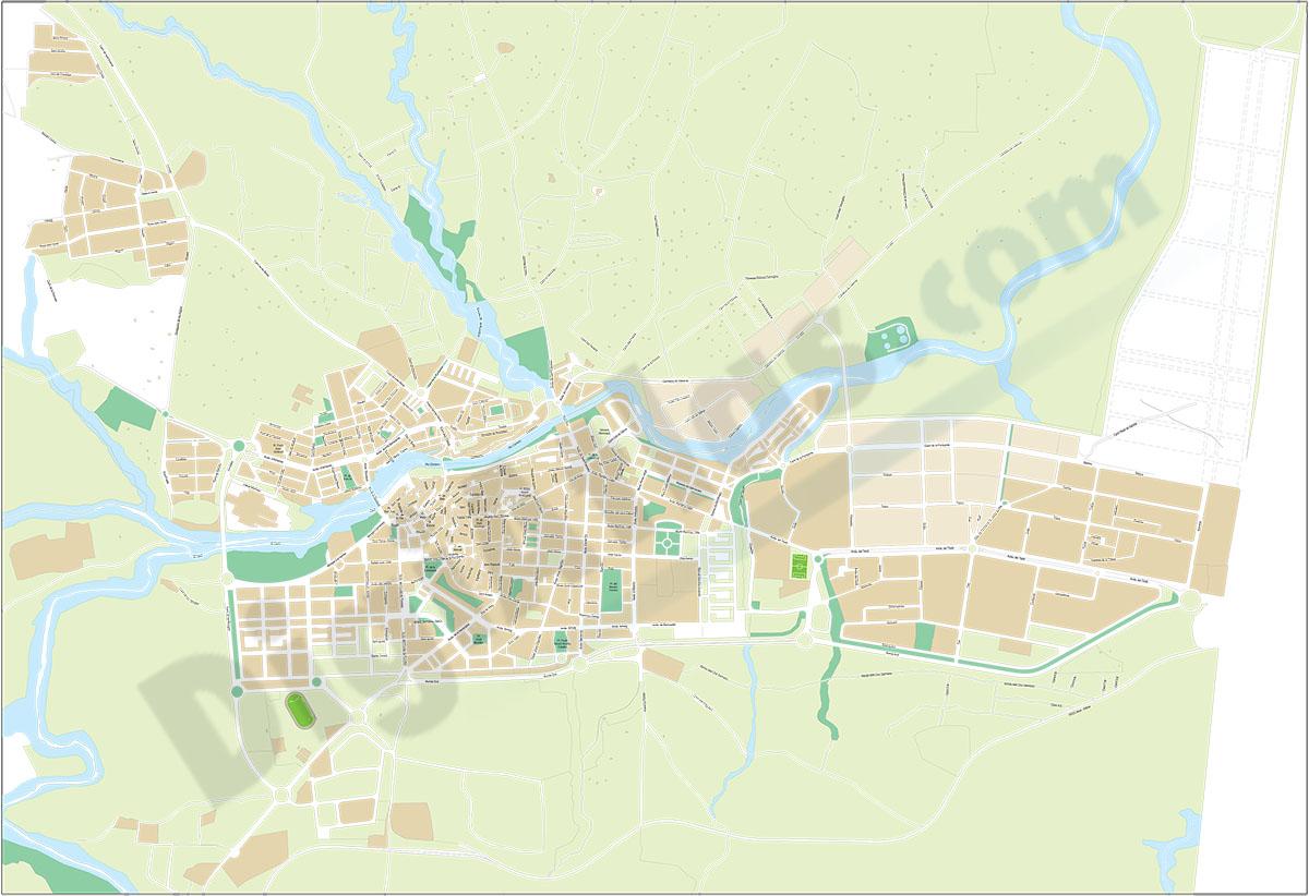Ontinyent-Onteniente  (Valencia) - plano callejero
