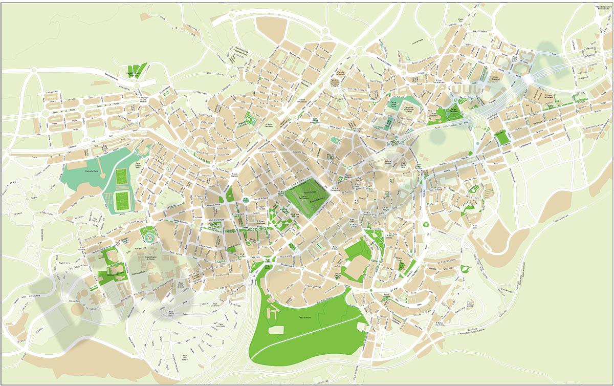 Oviedo (Asturias) - city map