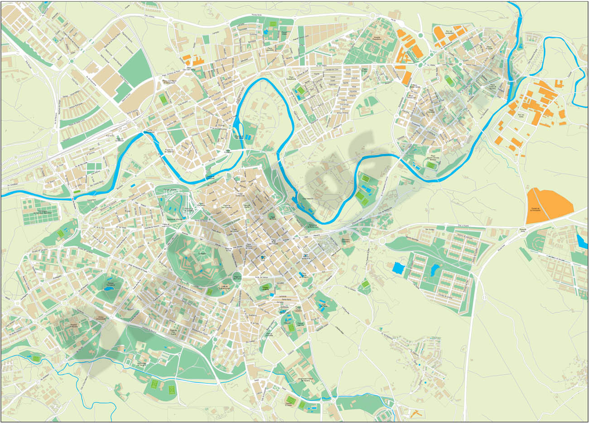 Pamplona (Iruña) city map
