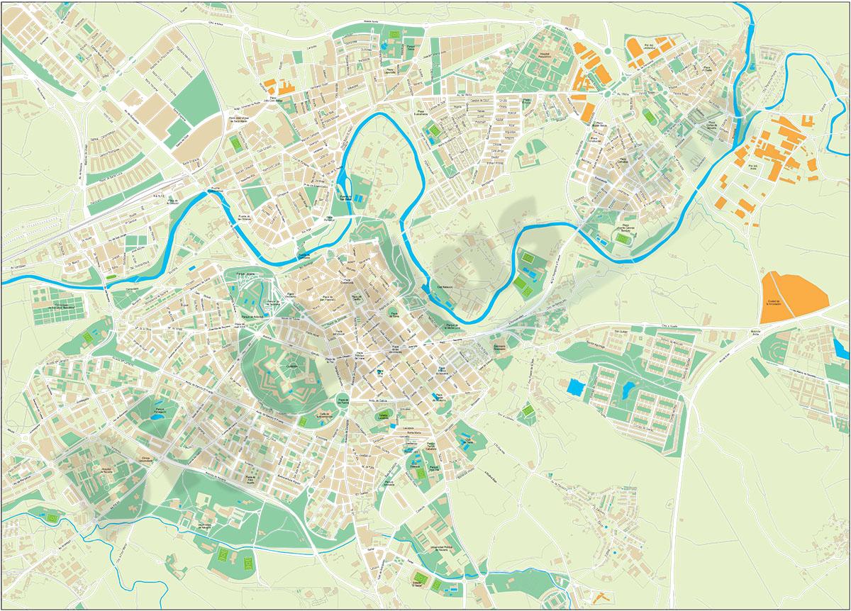 Pamplona (Iruña) - plano callejero