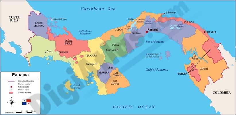 Map of Panama