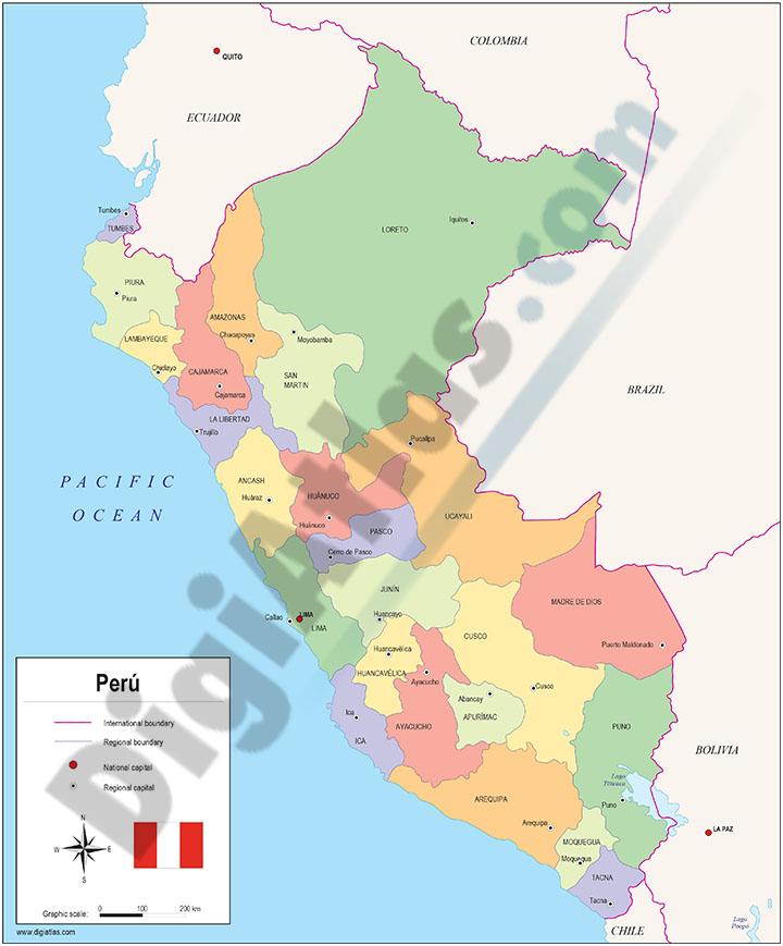 Mapas políticos de paises del Centro y Sur de América