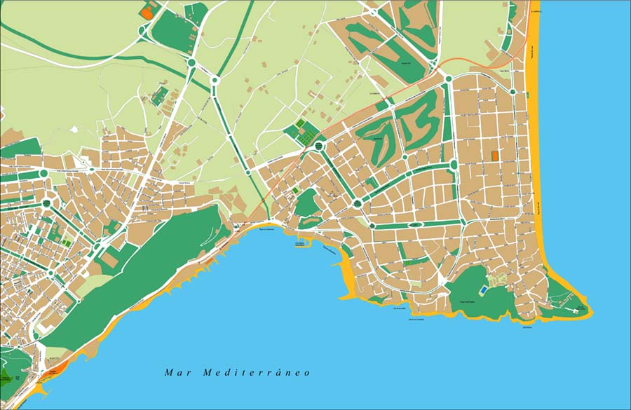 San juan de alicante city map