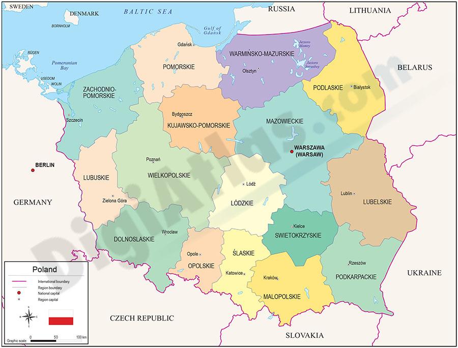Mapa de Polonia | Metro Map | Bus Routes | Metrobus Way Map ...