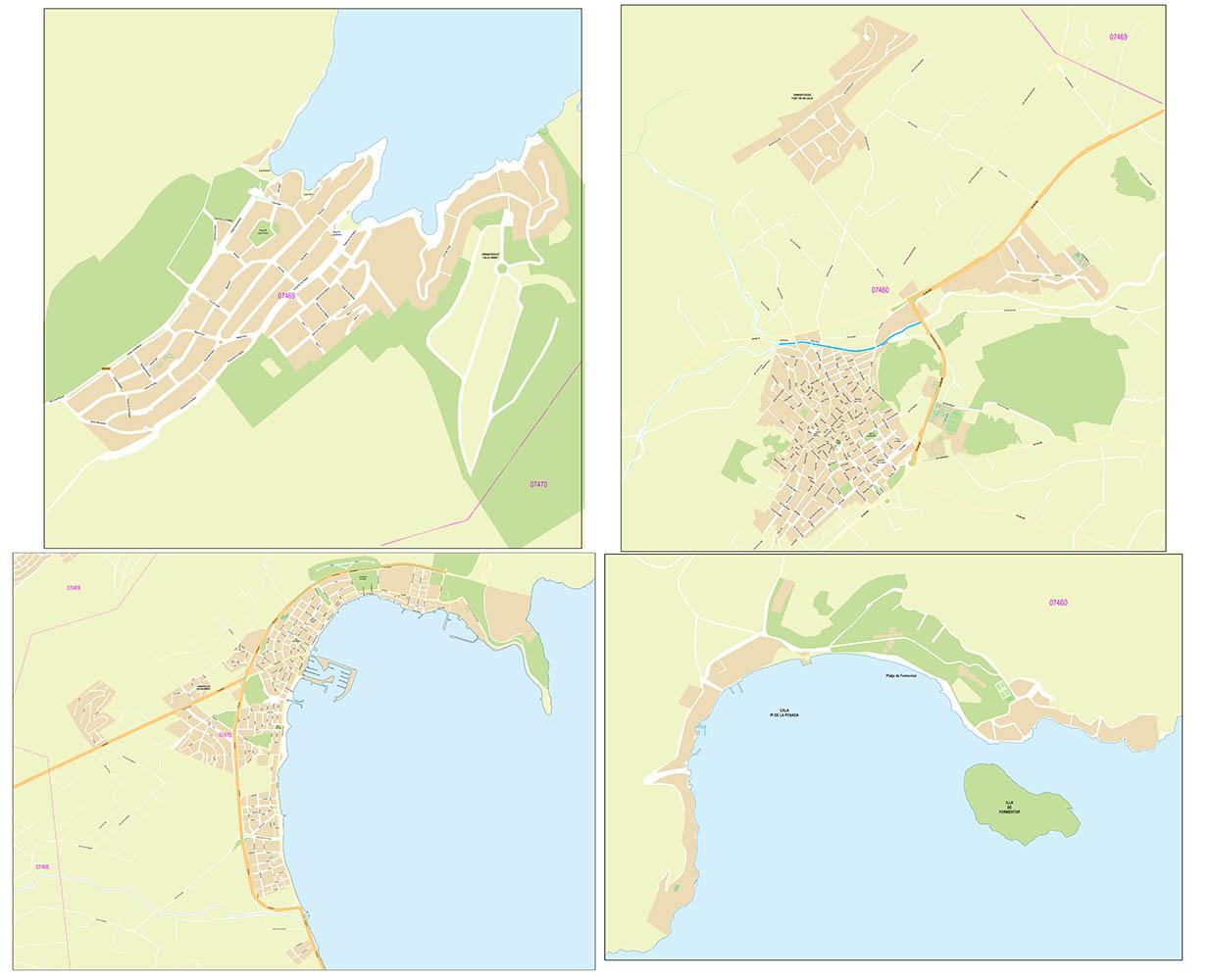Pollença city map