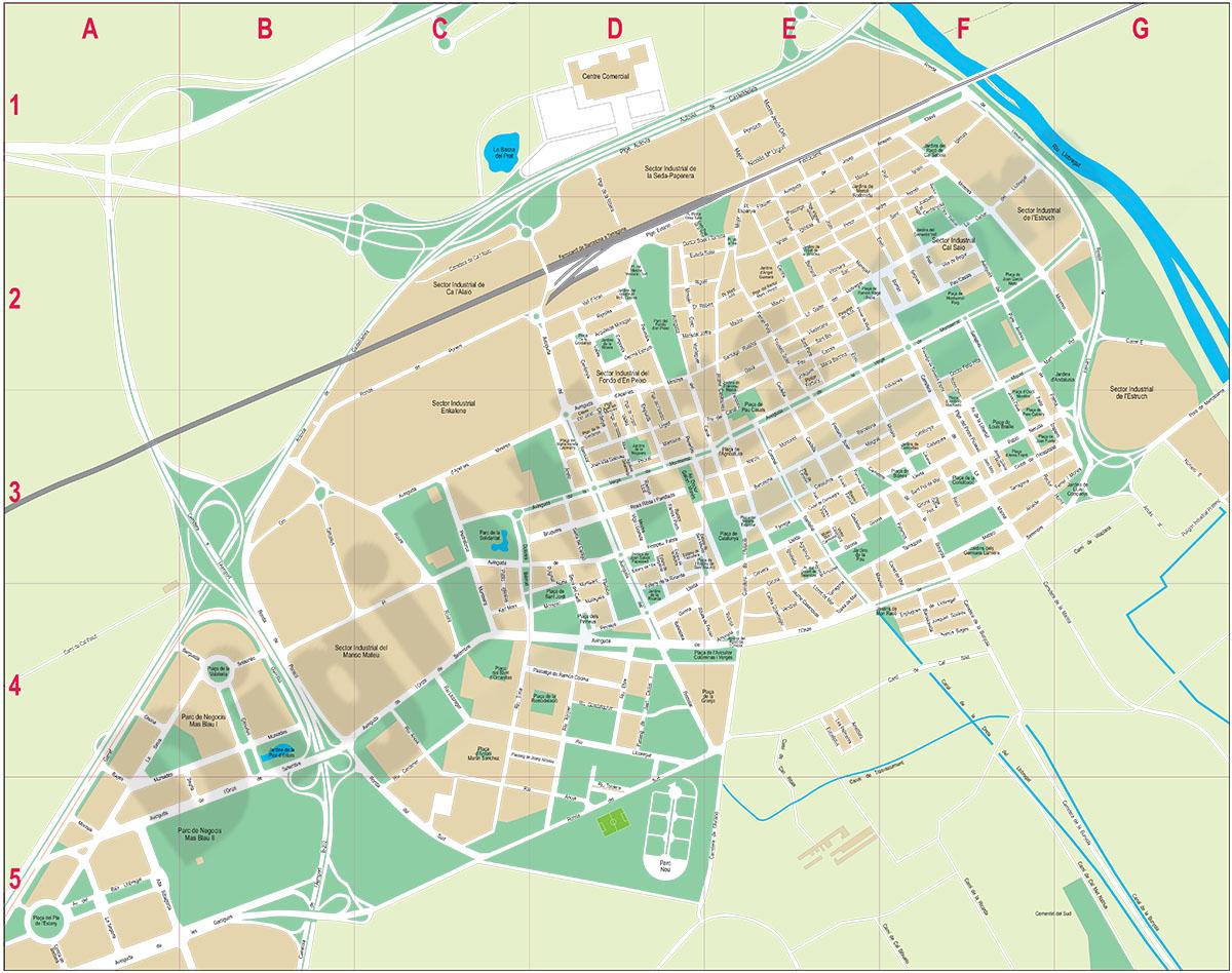 El Prat de Llobregat (Spain) - city map