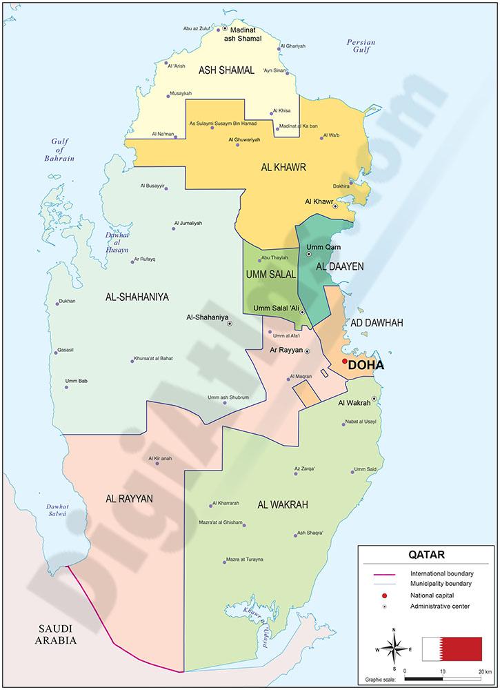 Map of Qatar