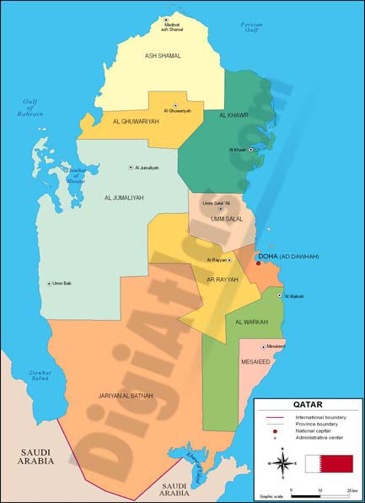 Mapa de Qatar