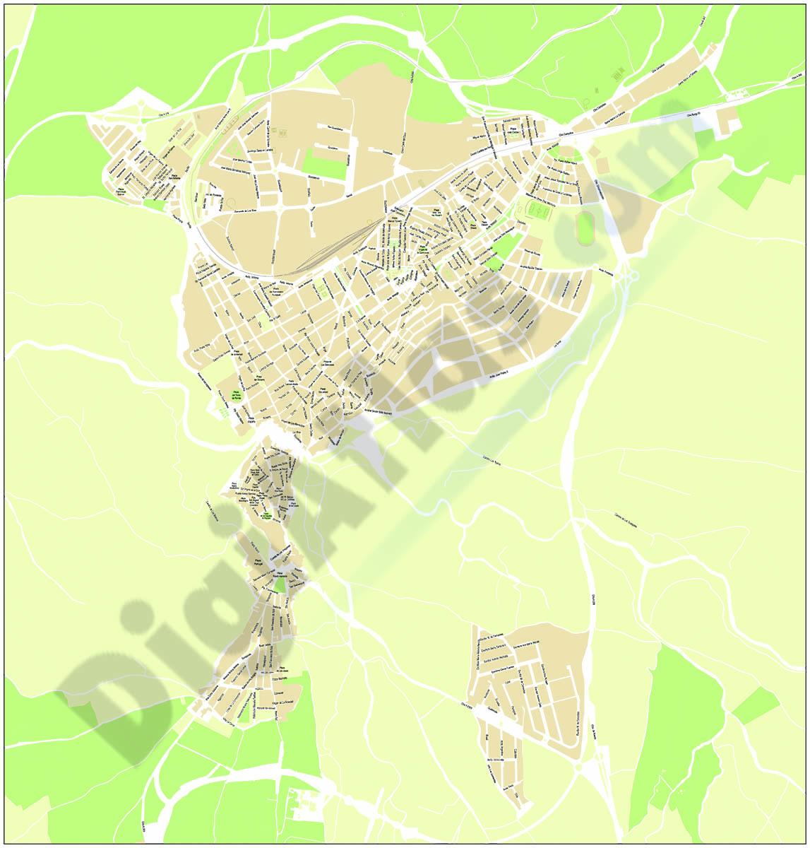 Ronda city map