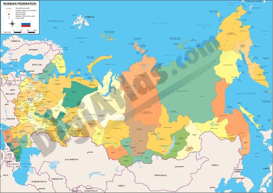 Mapa de Rusia