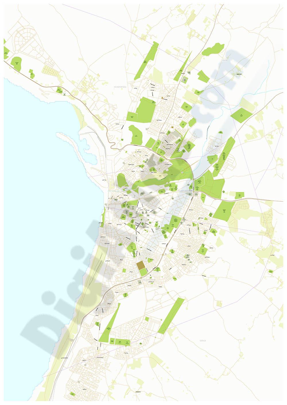 Safi - city map