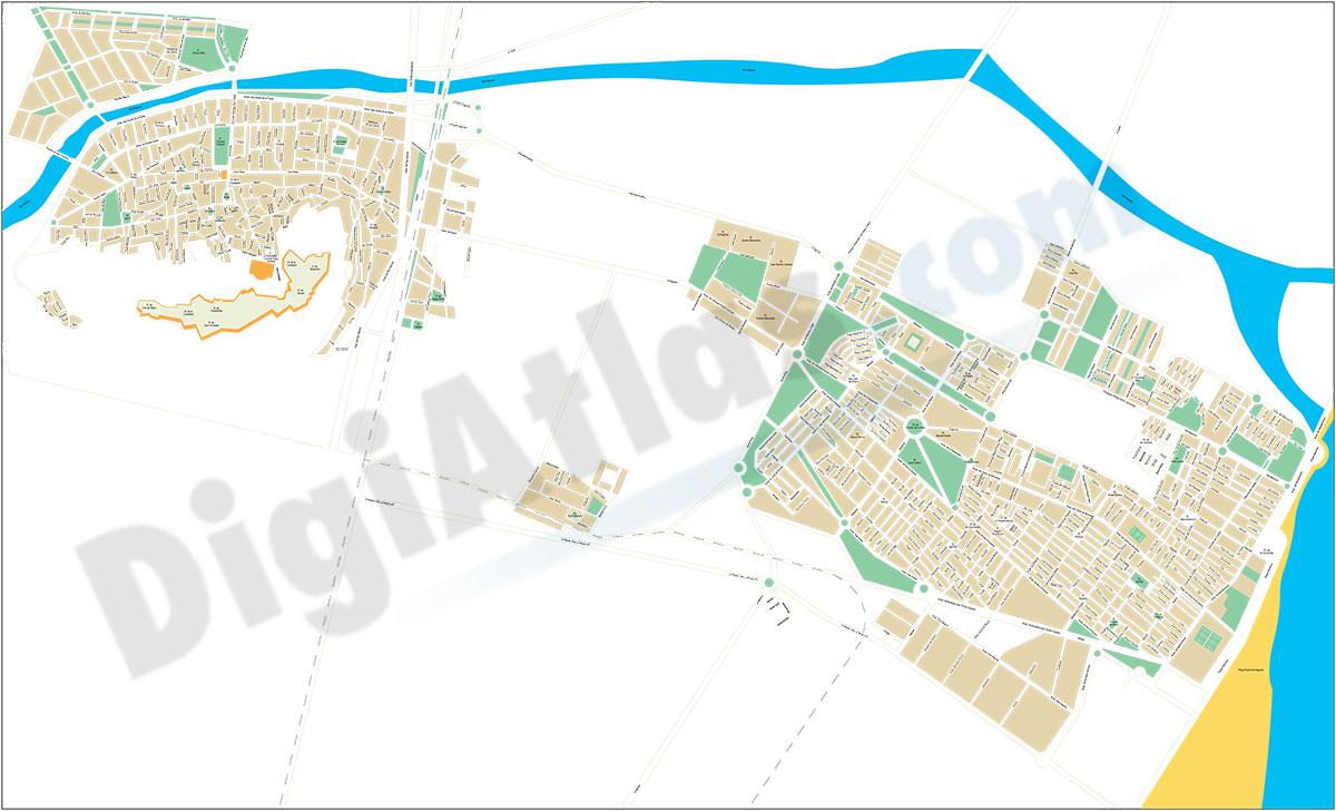 Sagunto (Valencia) - plano callejero