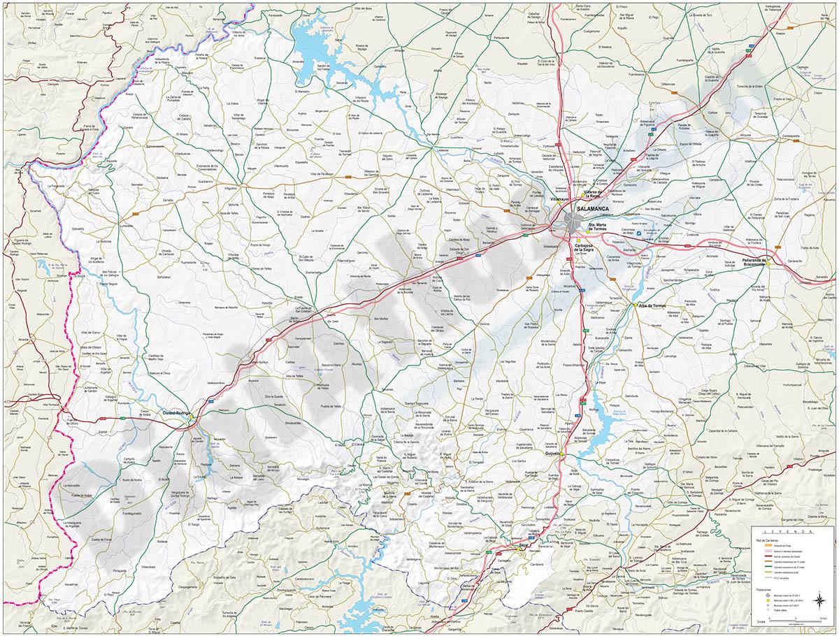 Mapa de la provincia de Salamanca