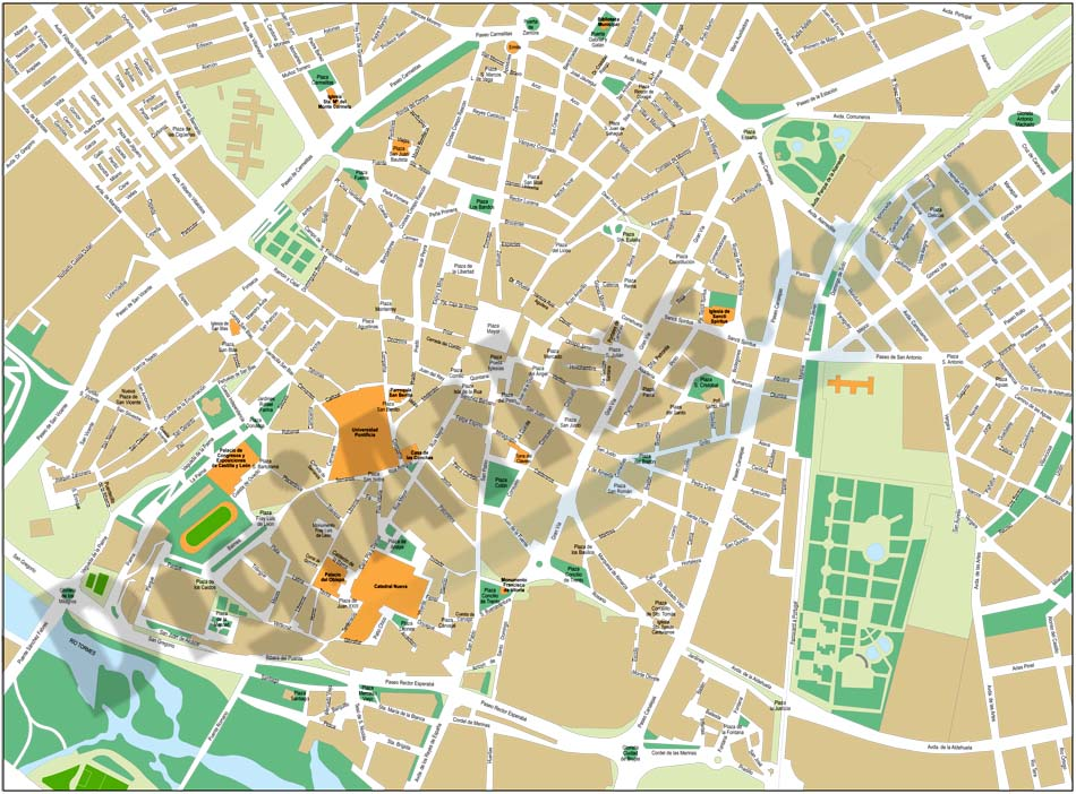 Salamanca - city map