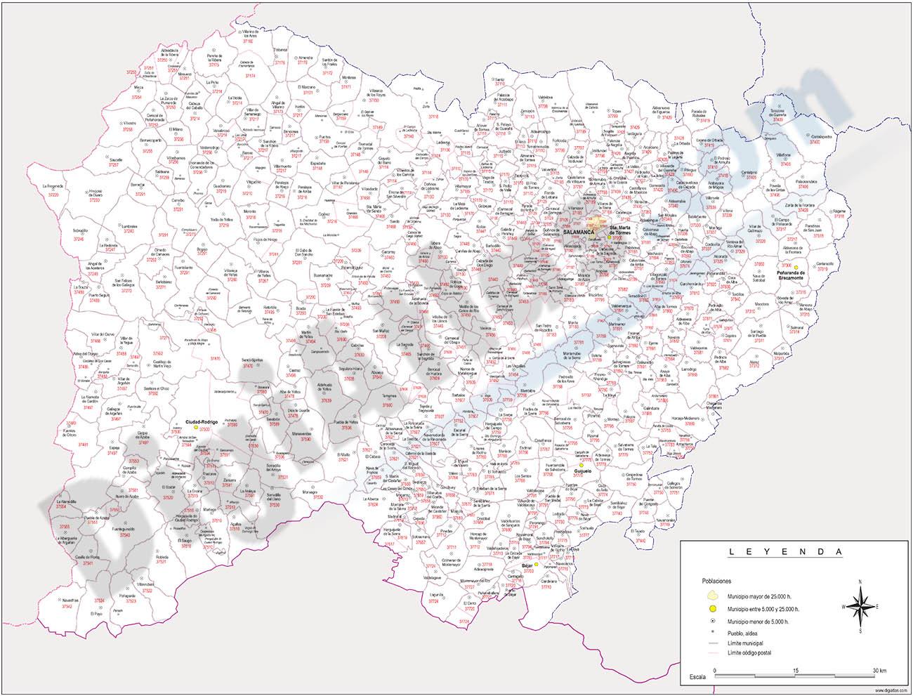 Mapas vectoriales de espa a y del mundo planos callejeros for Codigo postal calle salamanca valencia