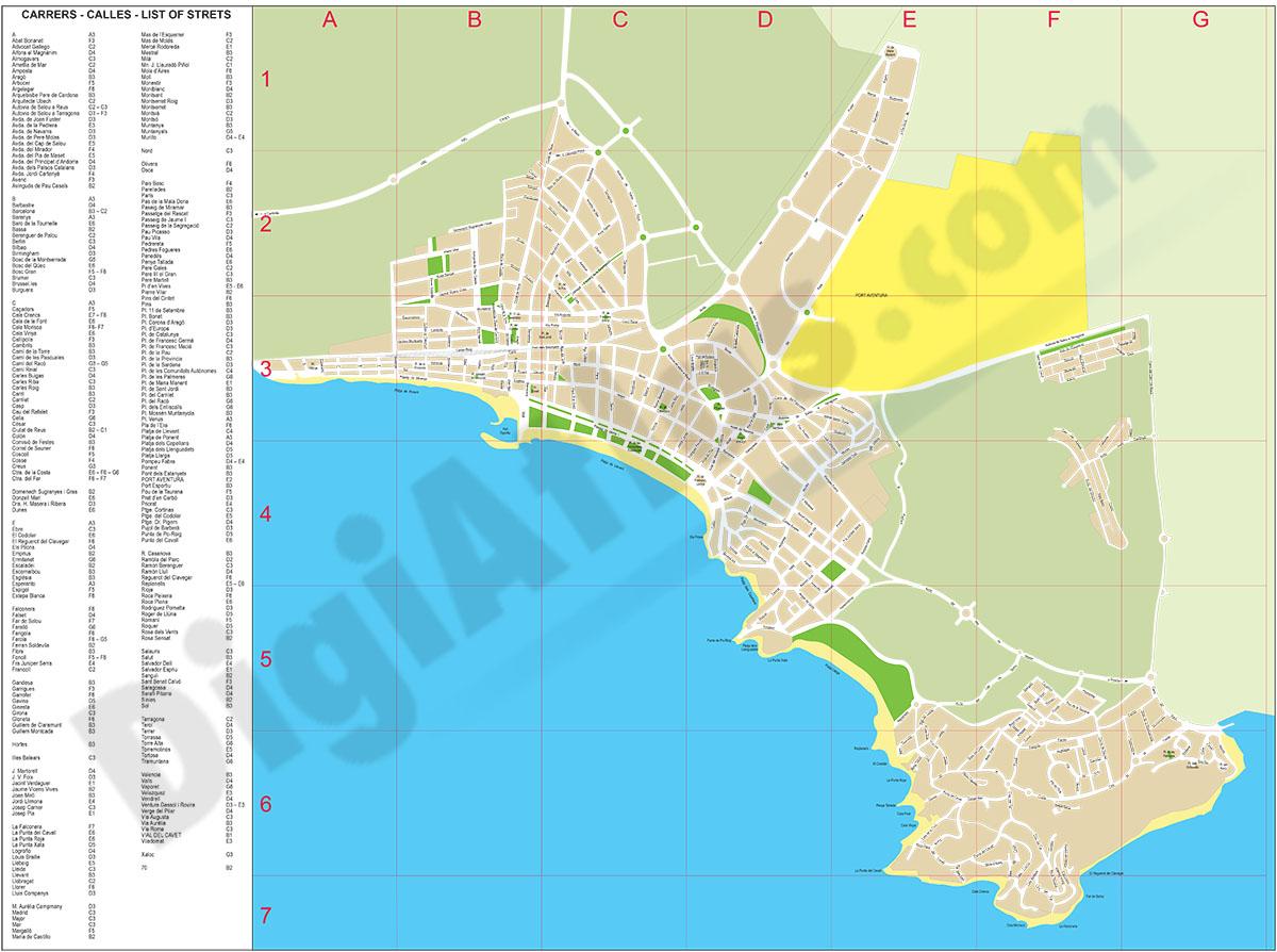 Salou - city map