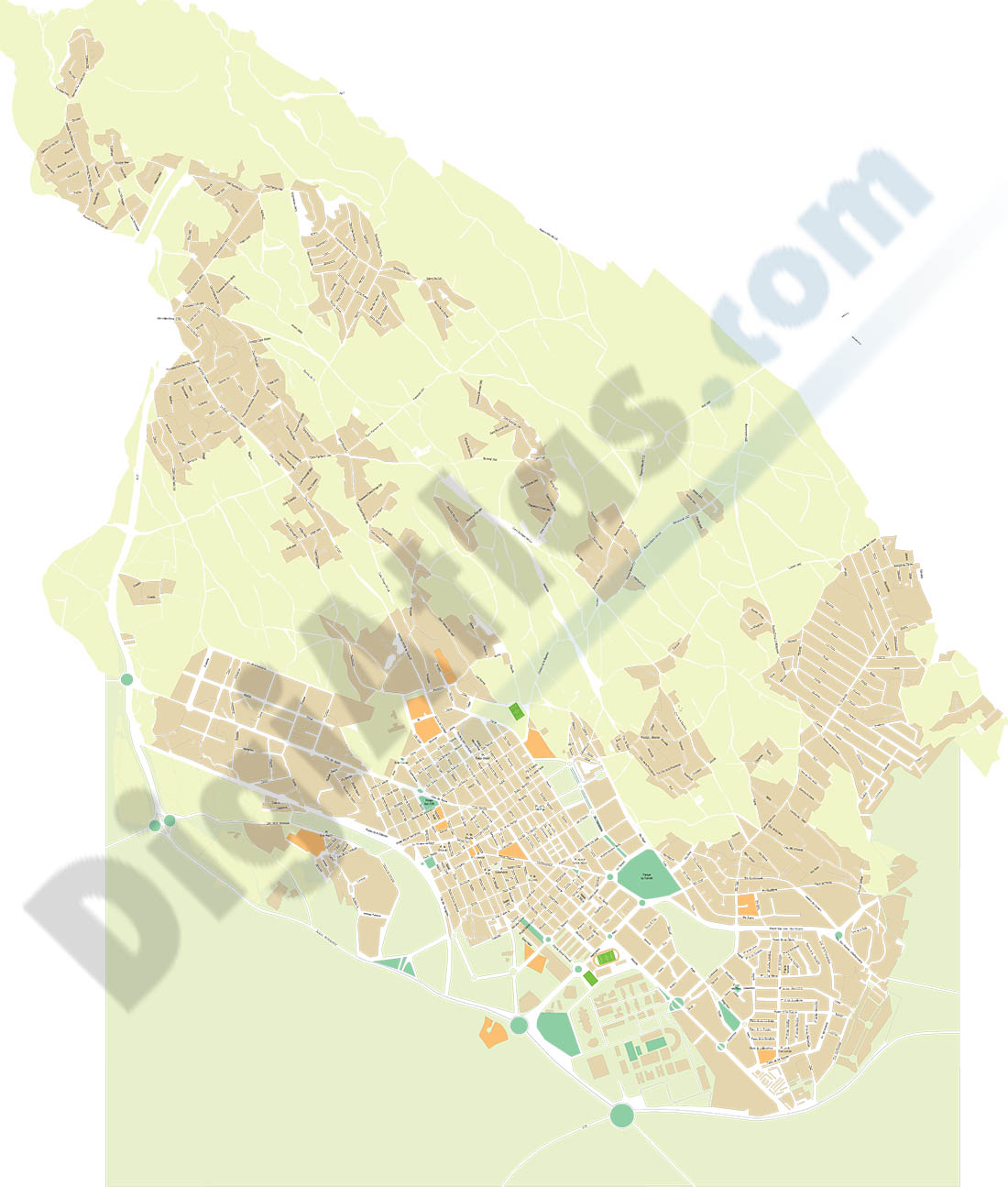 San Vicente del Raspeig (Alicante) - city map