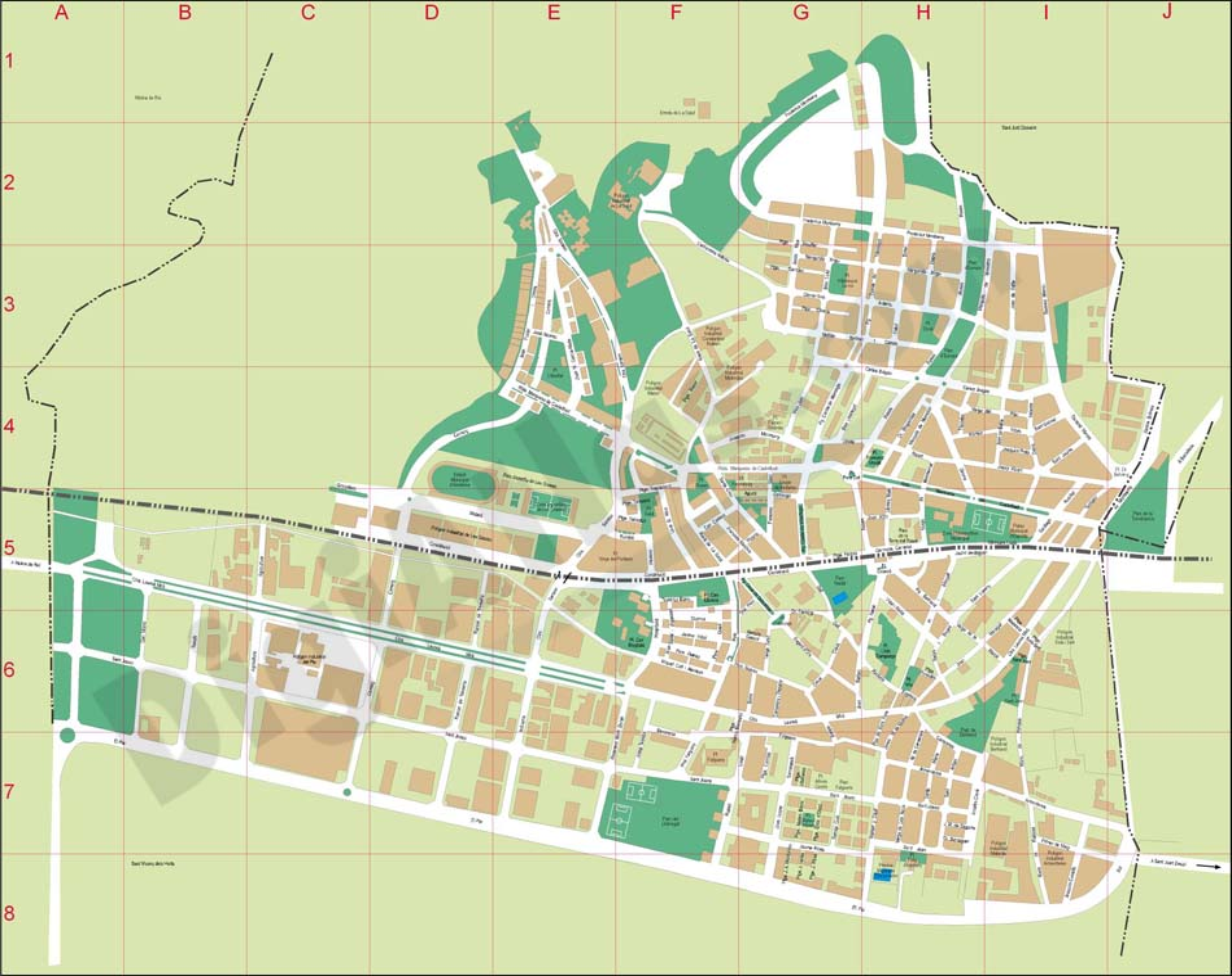 Vectorized maps digital maps increase search engine - Casas sant feliu de llobregat ...