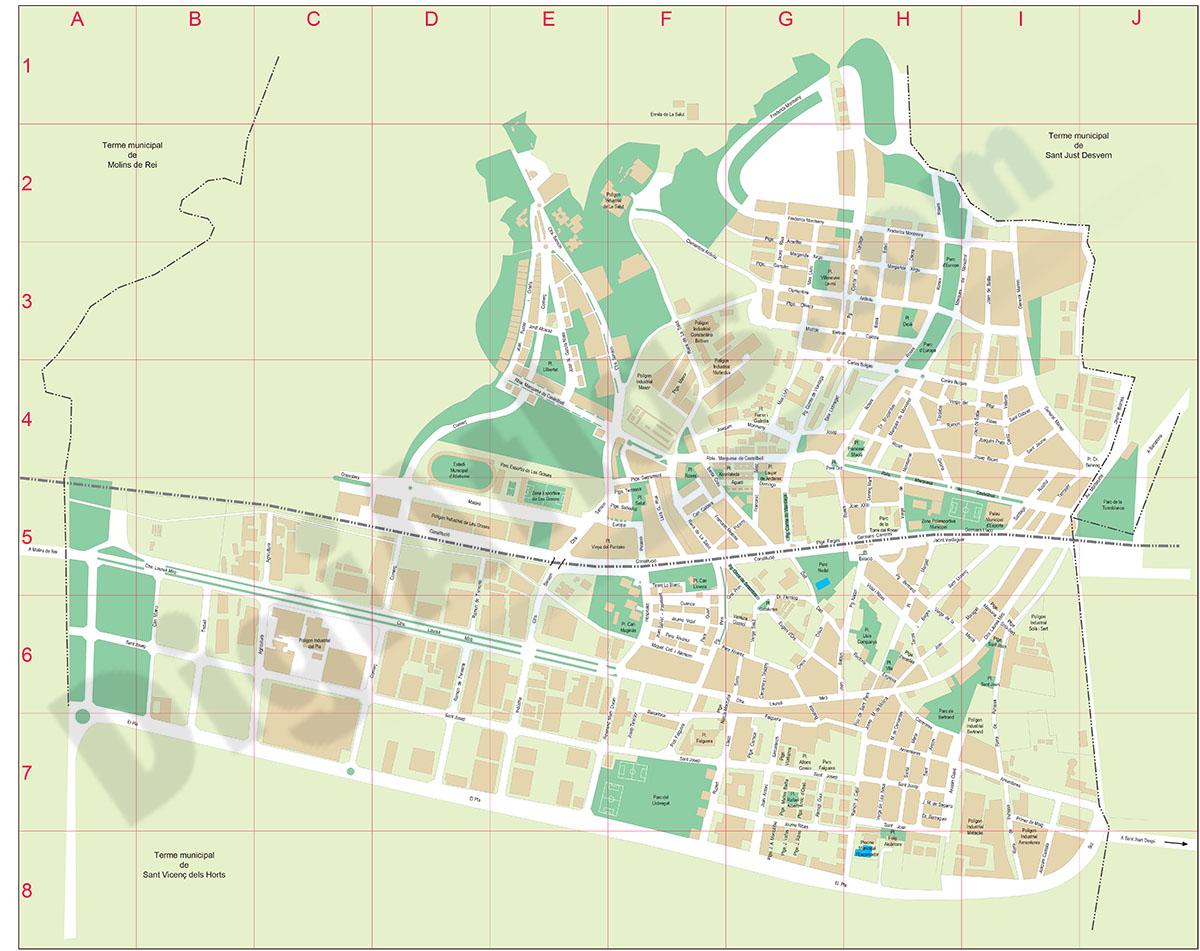 Sant Feliu de Llobregat - plano callejero