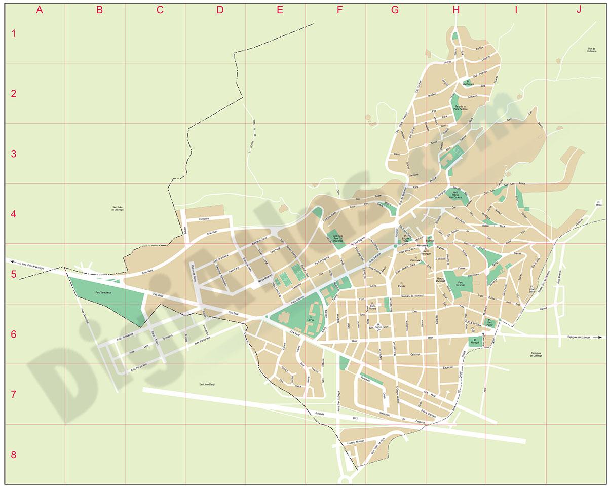 Sant Just Desvern - plano callejero