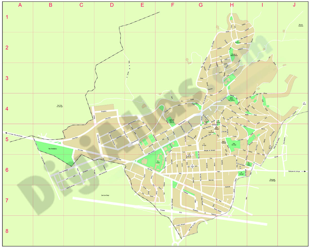 Sant Just Desvern city map