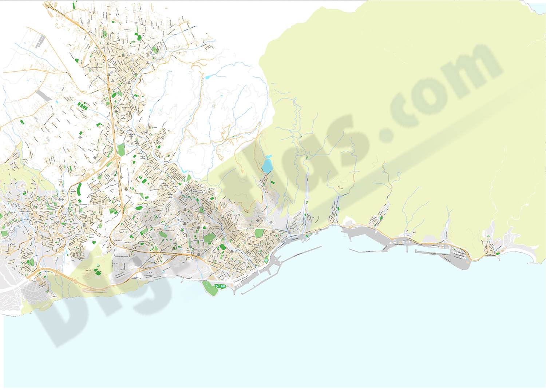 Santa Cruz de Tenerife - city map