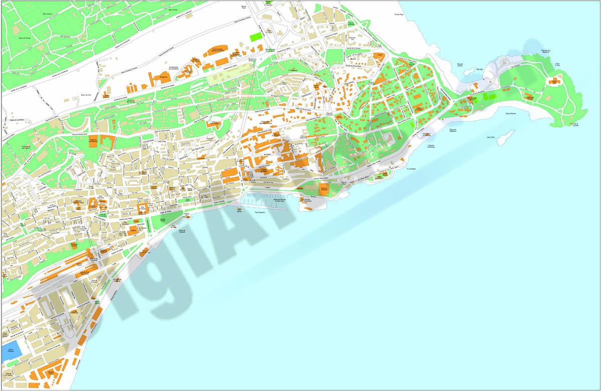 Santander - city map