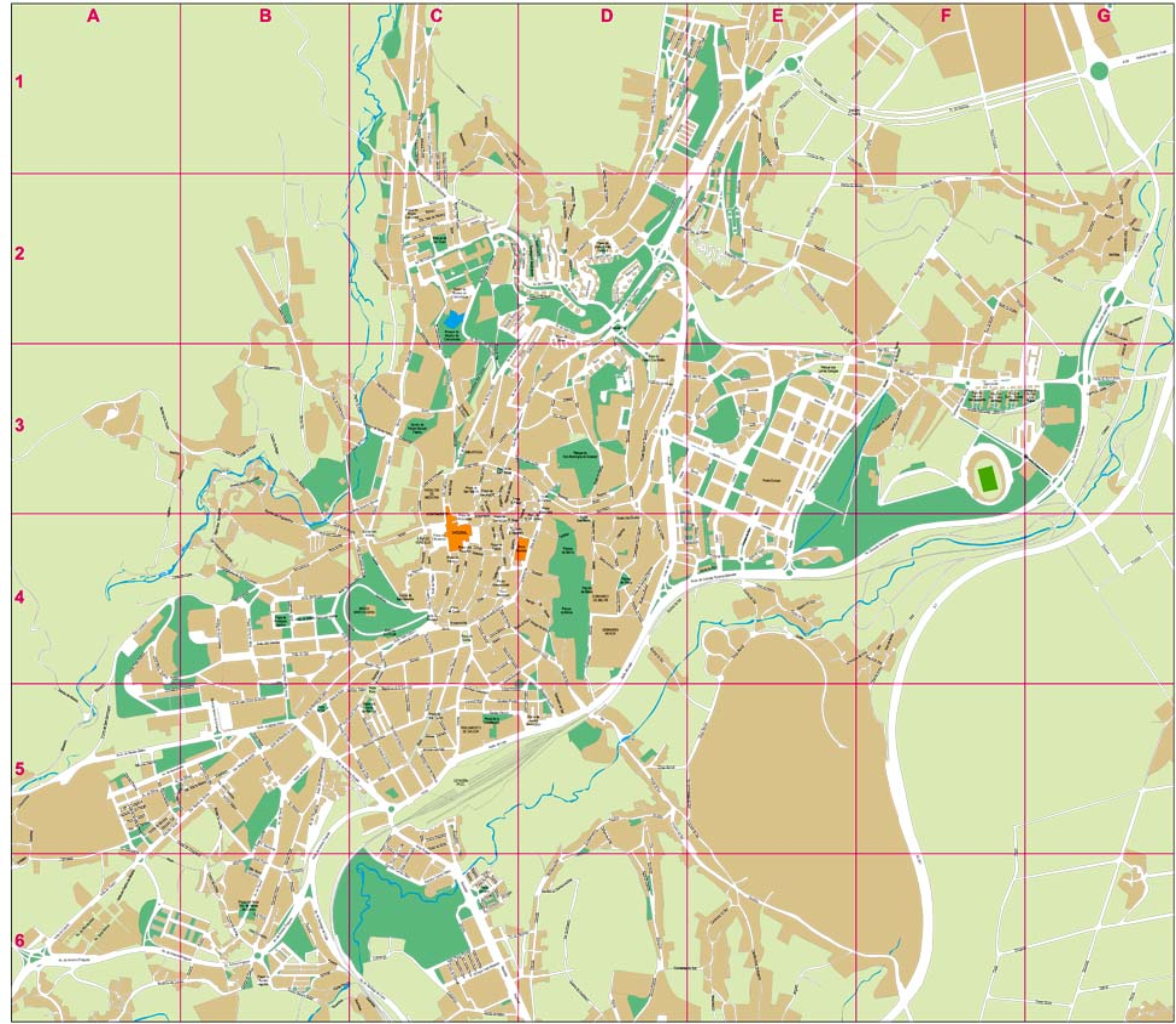 Santiago de Compostela - plano callejero