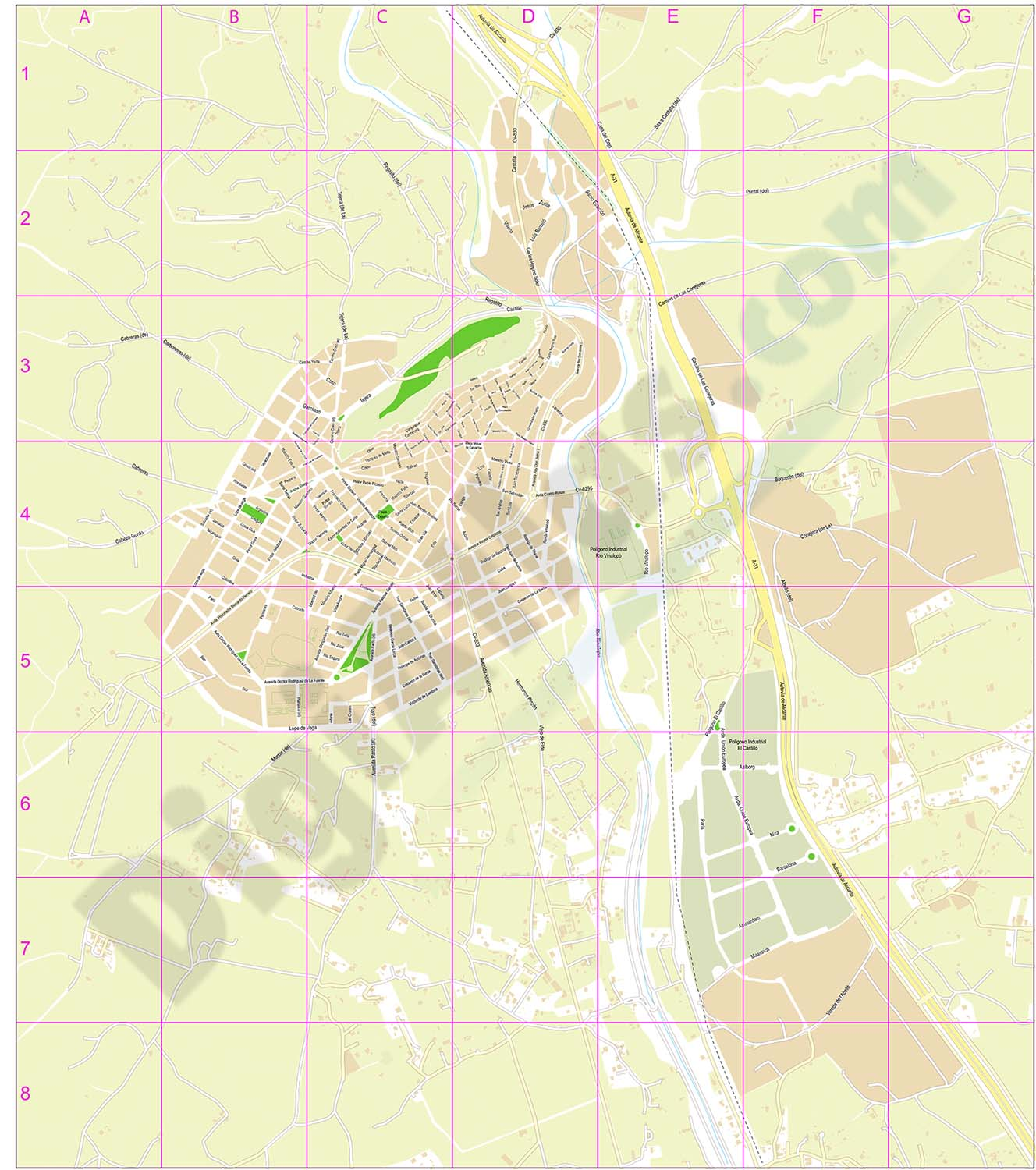 Sax - city map