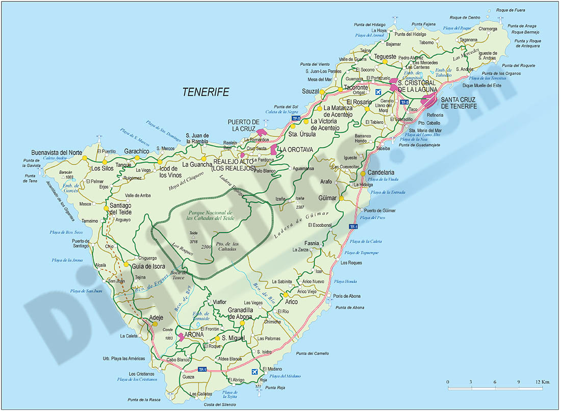 Map of Santa Cruz de Tenerife