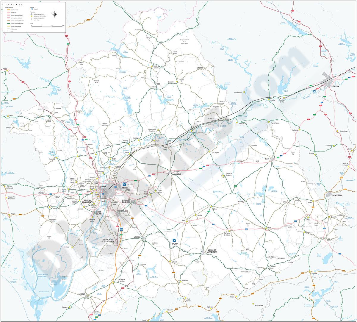 Map of Sevilla