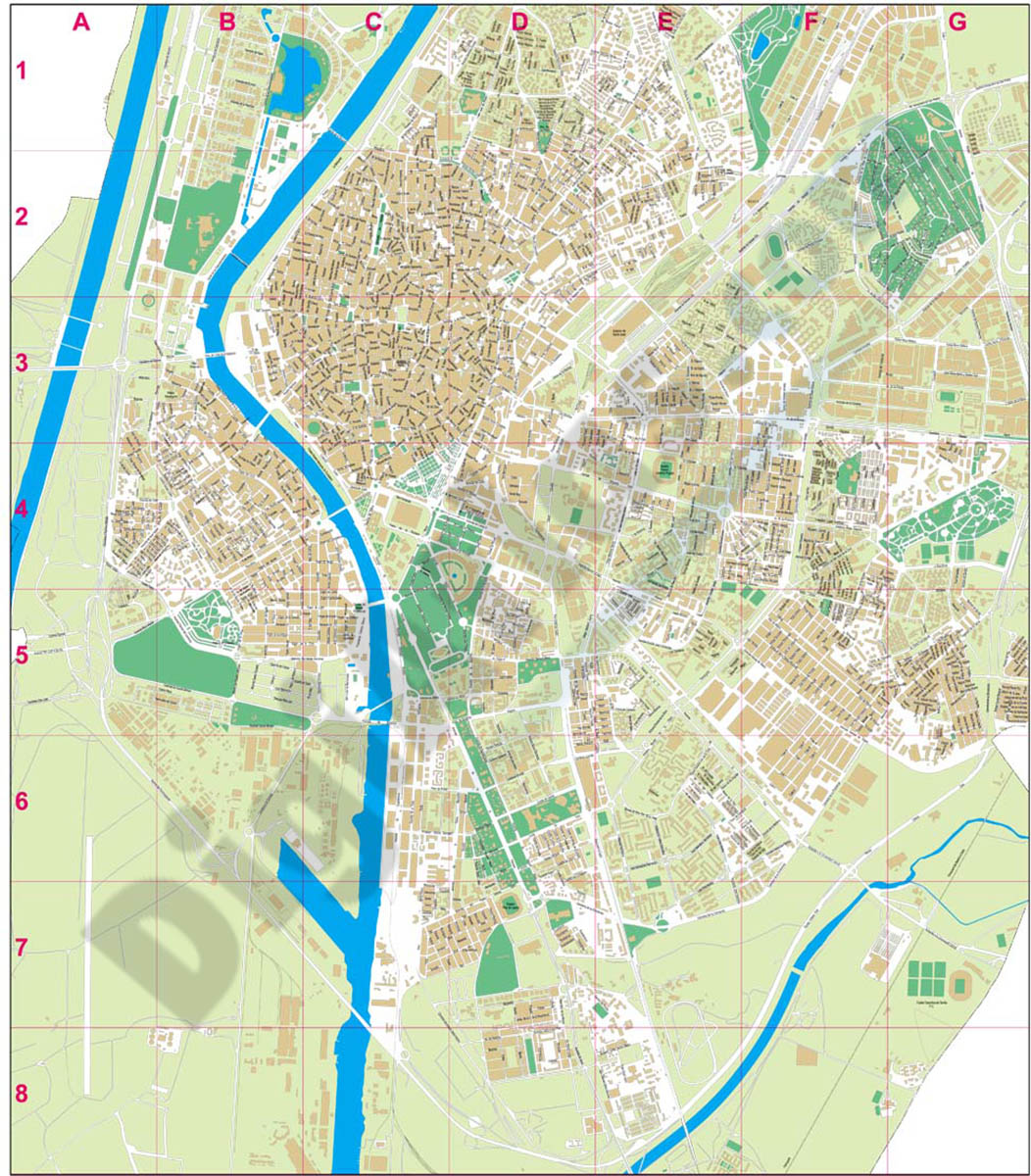 Sevilla - city map