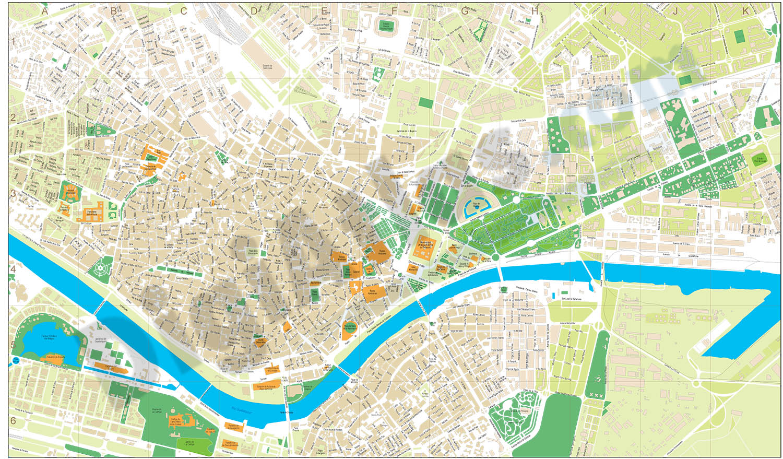 Sevilla center street map