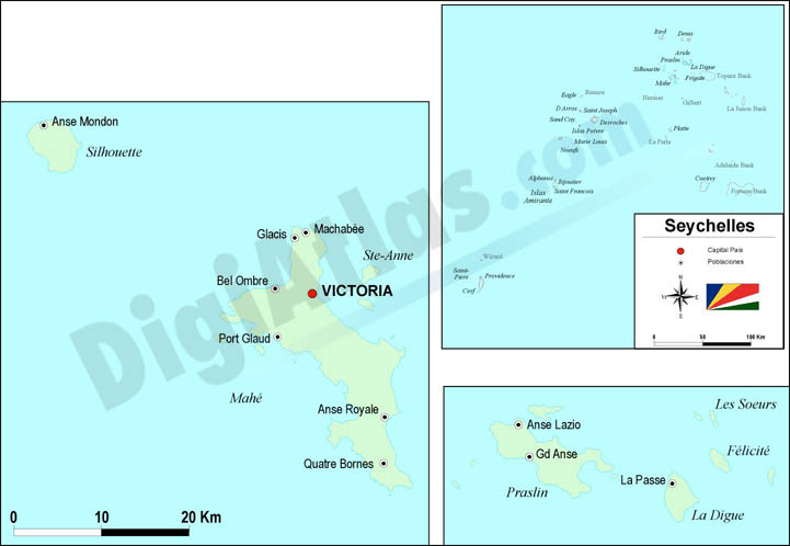 Map of Seychelles