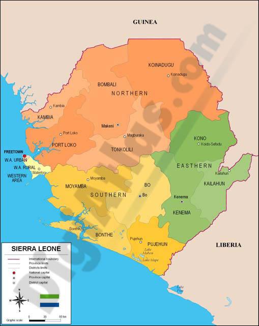 Mapa de sierra leona